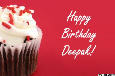 Lets join to wish Deepak of Thendral Happy Birthday ...